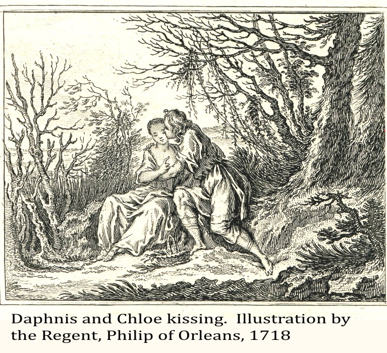 Daphnis and Chloe kissing