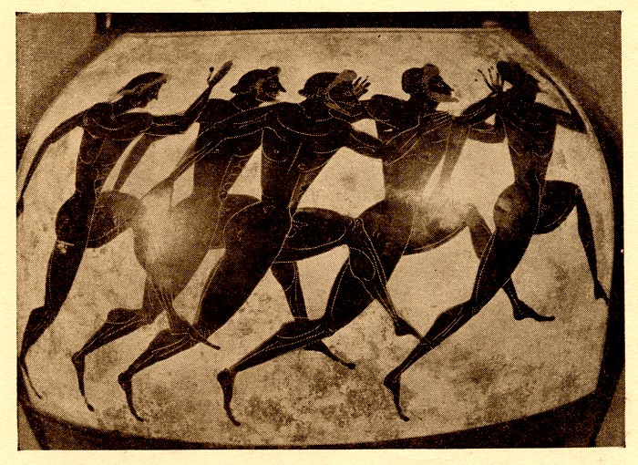 Runners on a Panathenaic vase