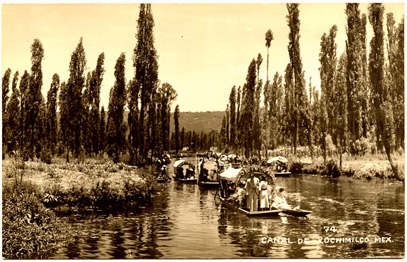 Postcard of Xochimilco