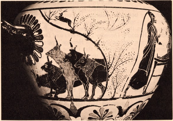 Hermes stealing Apollo's cattle