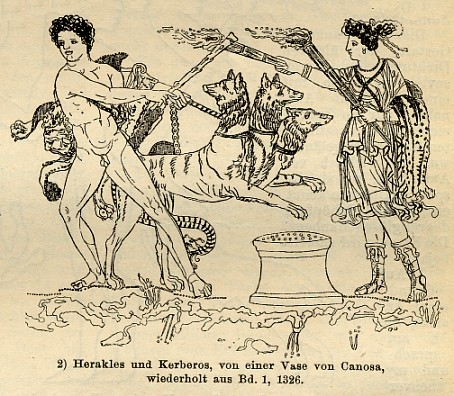 Herakles and Kerberus