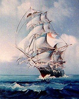 Painting of ship